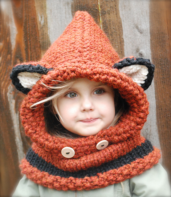Knit Failynn Fox Cowl by Heidi May - Get The Pattern For This Popular Hood!