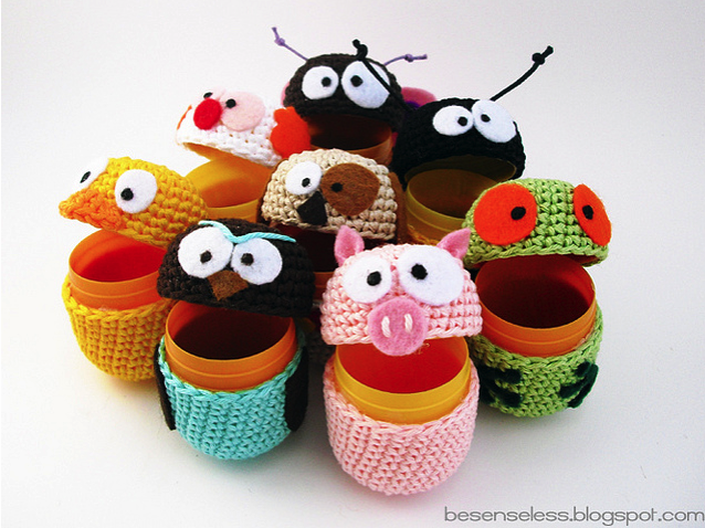 Kinder Surprise Eggs Are Still Illegal In the USA, So Are These Adorable Amigurumi Considered Contraband?
