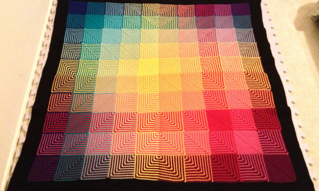 Hello, Hue Shift Afghan! Did You Know The Pattern & Kits Are Available in Both Knit & Crochet?