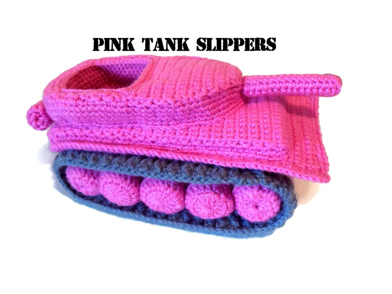 More fun tank slipper patterns #crochet