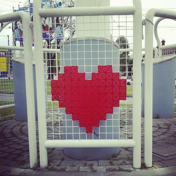 Heart Yarn Bomb By Twilight Taggers Secretheartproject