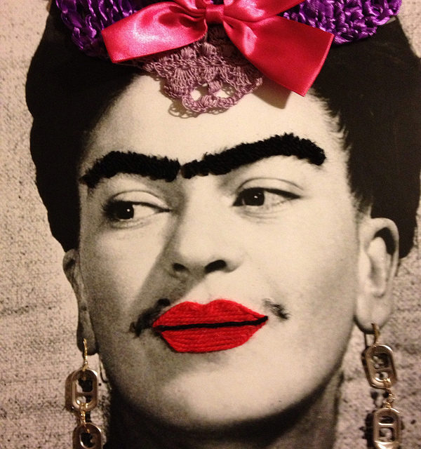 Frida Kahlo Yarn Bomb