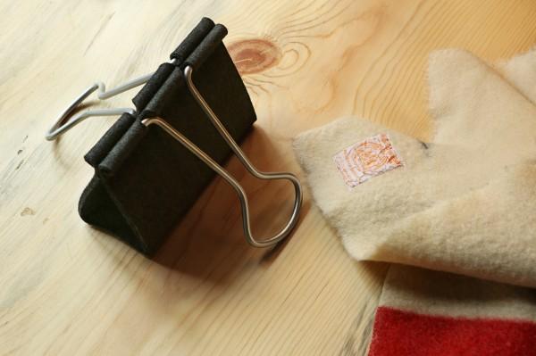Peter Bristol's Binder-Clip Bag - Made With Felt And Aluminum