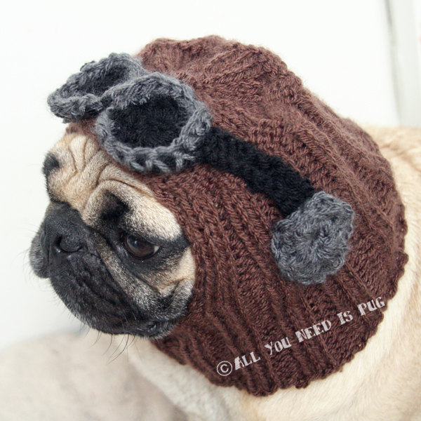476879535 Knit An Aviator Hat For Your Pug | KnitHacker