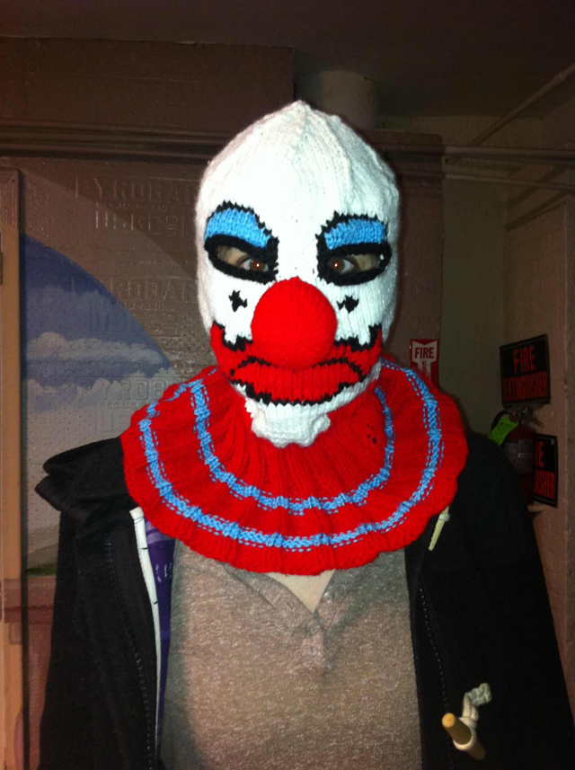 Trigger Warning! Coulrophobics, This Knitted Mask Is *NOT* For You!