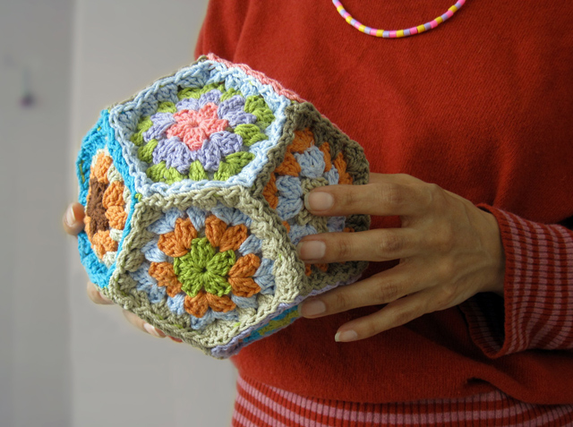 Crochet Granny Square Dodecahedron by Lots of Loops