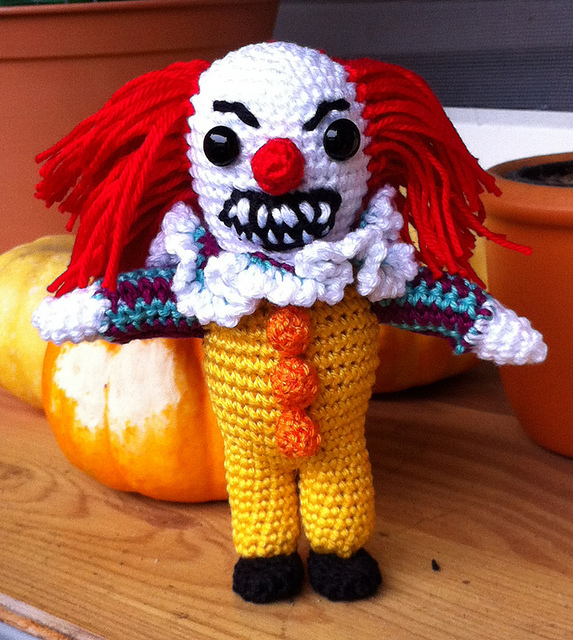 Crochet This Pennywise Amigurumi - FREE Pattern ... If You Dare ...