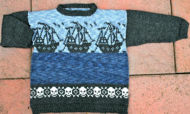 Daniel's Pirate-Mashup Sweater by Pointy Pointy Sticks