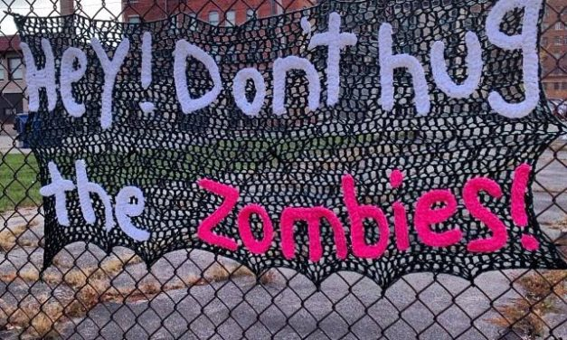 Don't Hug the Zombies… and Don't Steal Yarn Bombs!
