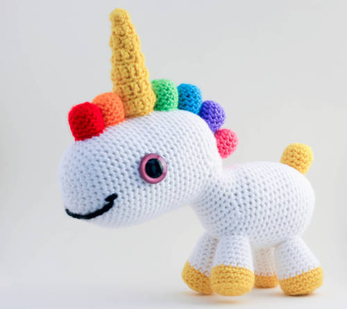 RoxyCraft's Rainbow Unicorn Amigurumi