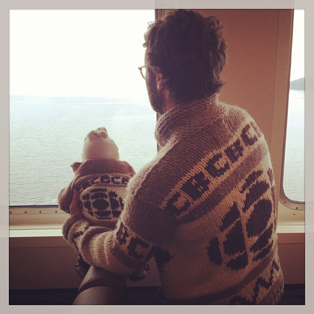 'Like Father, Like Son.' Baby CBC Sweater Knitted By Radio 3 Fan Shazzer Bedazzler