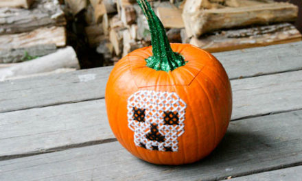 Cross-stitching on Real Pumpkins … It's Tutorial Time!