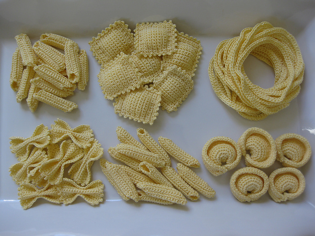Crochet a Pasta Party With This Yummy Set – 100% Carb-Free!