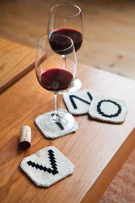 Knit a Gift for a Scrabble Nerd - These Letter Tile Coasters Are Perfect!