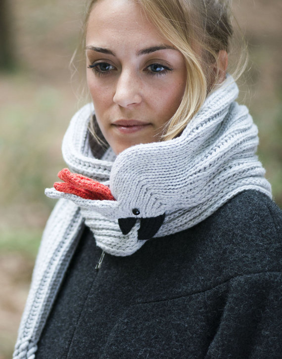 Nina's Knitted Cockatoo Scarf
