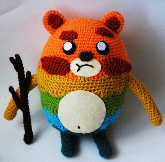 Impossibear and His Gas-Powered Stick - An Amigurumi Inspired By the Bravest Warriors Web Series