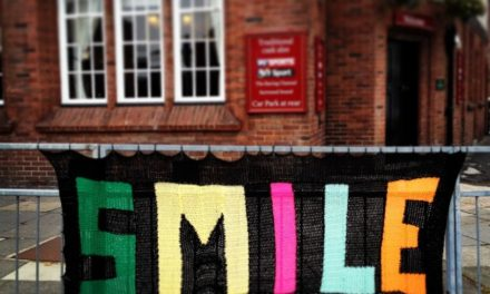 'Smile,' Said the Yarn Bomb