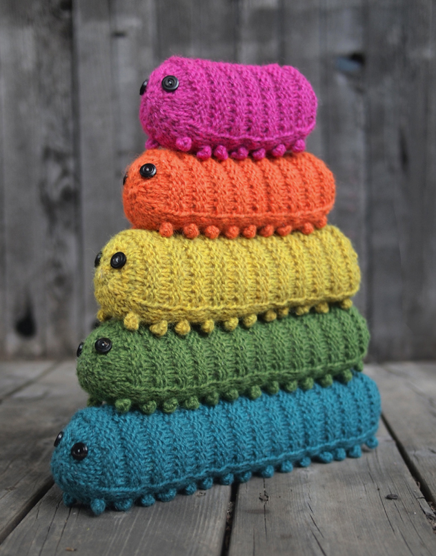 Knit An Army of Caterpillars! Pattern by Miranda Harp