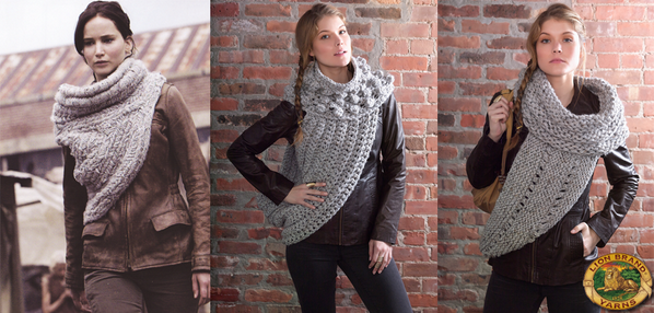 District 12 Cowl Wrap – Inspired By the Cowl Seen in The Hunger Games: Catching Fire – FREE Knit & Crochet Patterns