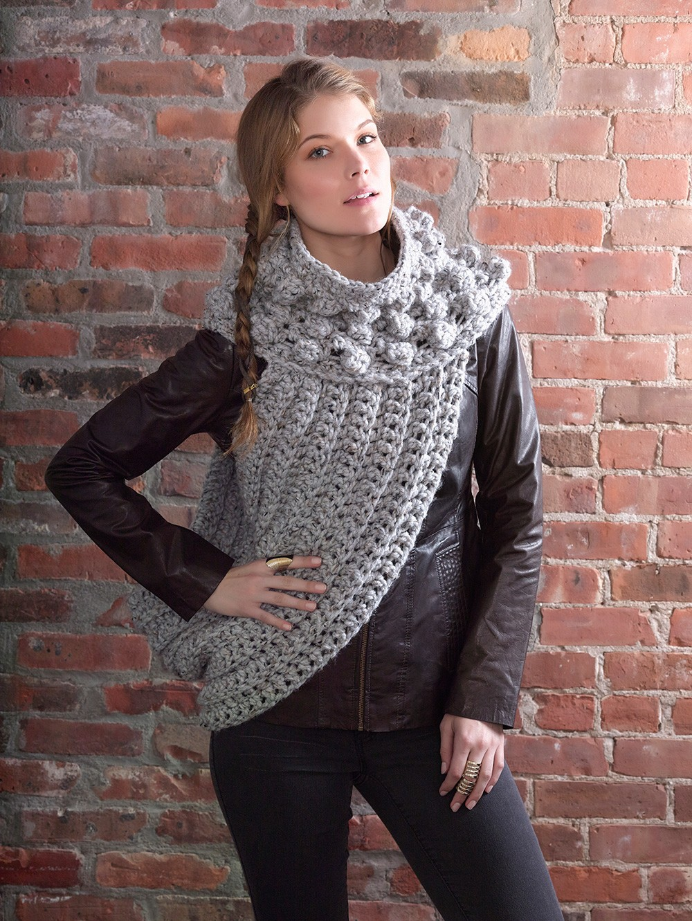 District 12 Cowl Wrap - Inspired By the Cowl Seen in The Hunger Games: Catching Fire - FREE Knit & Crochet Patterns