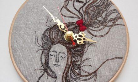 Laura Mason's Fantastic Embroidered Clocks