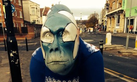 Awesome Guerrilla Gorilla in a Sweater Yarn Bomb Spotted in Bristol!
