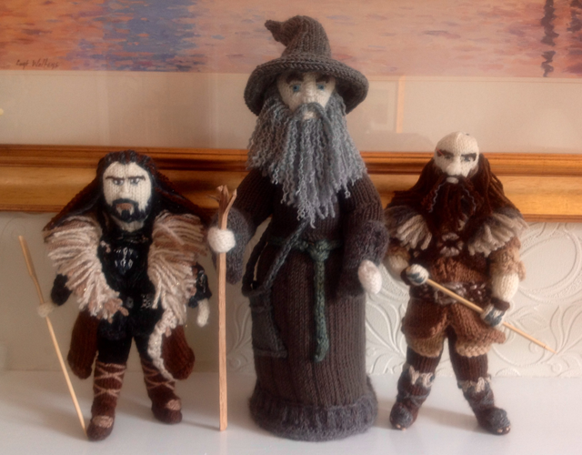 Thorin, Gandalf and Dwalin