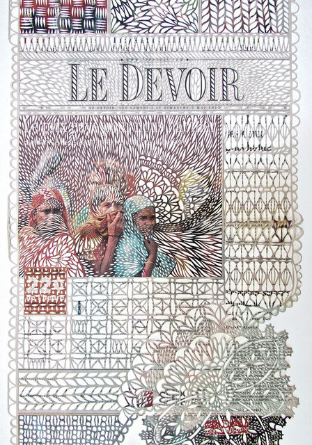 Myriam Dion's Newspaper Lace