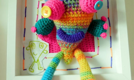 Monster Designed By Stella, Crocheted by Lyndsay McFarlane of Loopy Lou Designs