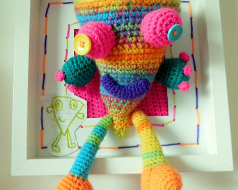 Monster designed by Stella and crocheted by Lyndsay McFarlane of Loopy Lou Designs.
