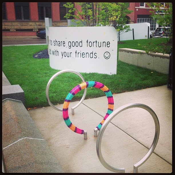This Yarn Bomb Comes With Sage Advice