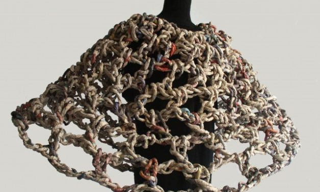 ivano vitali is an ecologist, sculptor and performer who creates with newspaper yarn!