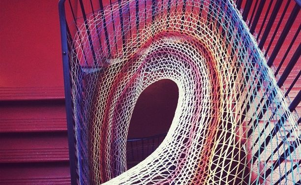 Stairwell Yarn Bomb at Dovecot Studios