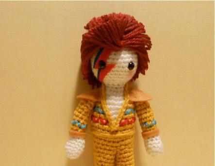 David Bowie Amigurumi Crocheted By Miss Dolkapots