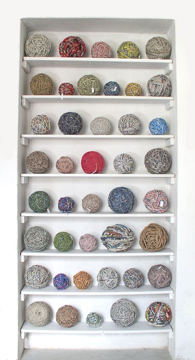 Meet Ivano Vitali - an Ecologist, Sculptor and Performer Who Creates With Newspaper Yarn