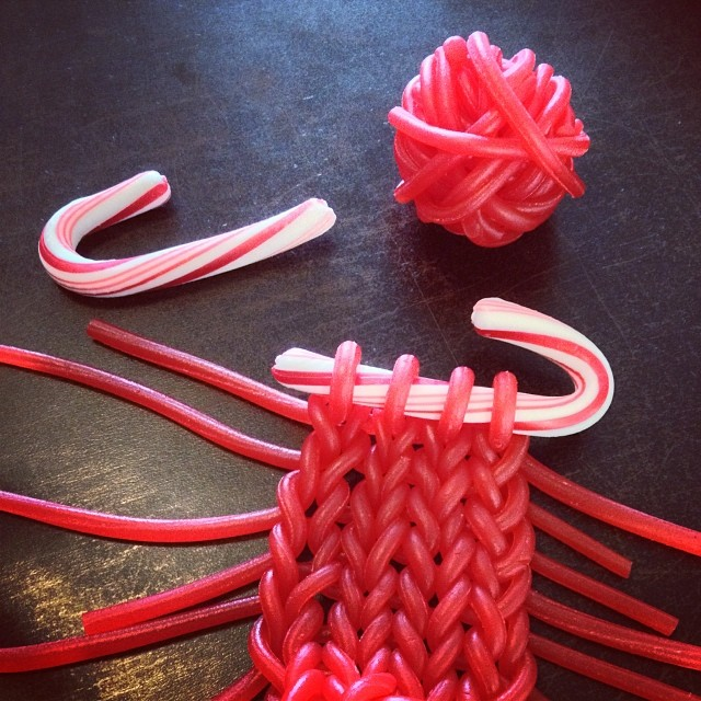 Knit The Licorice For Full Effect This Christmas ... A Fun Idea From Knits For Life!