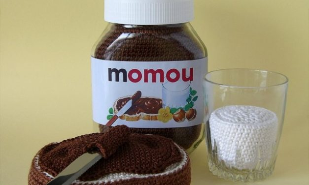 Crocheted Nutella and Milk by Momou Crochet