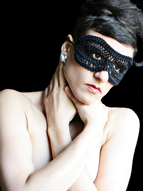 Stitchdiva's Classic Knit & Crochet Mask - So Dramatic!