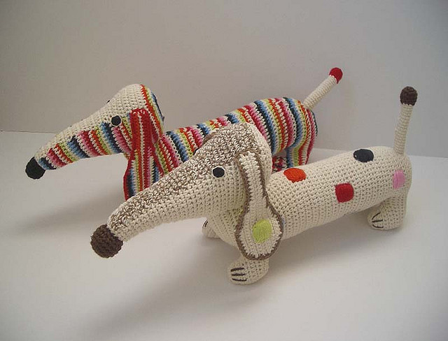 Anne Claire Petit's Crazy Cute Crochet Dachshunds