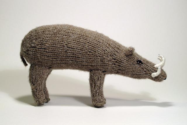 She Knit a Babirusa aka Deer-Pig!