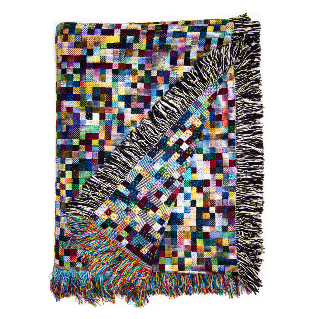Infected - an Influenza H1N1 Blanket Knit by Philip Stearns aka GlitchKnit