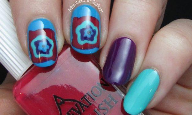 granny square nail art – not a fail!