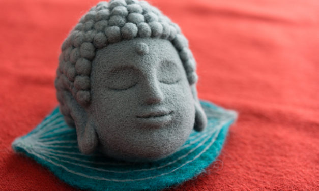 Tranquil Needle-Felted Buddha Made By Maa