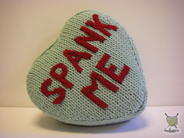 Knit a Spank Me Pillow!