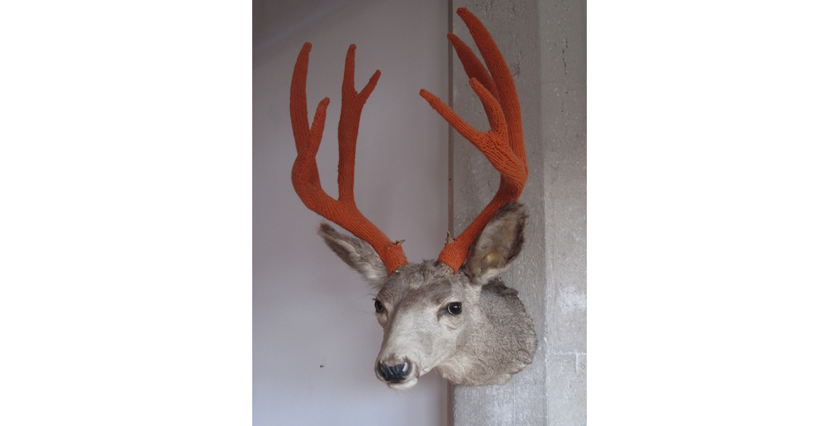 Amy Vogel's Dollarville 8 Pointer … She Knit Antler Covers!