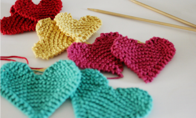Clever Little Valentine's Day Hearts – Knit 'Em Up Quick With a Free Pattern!