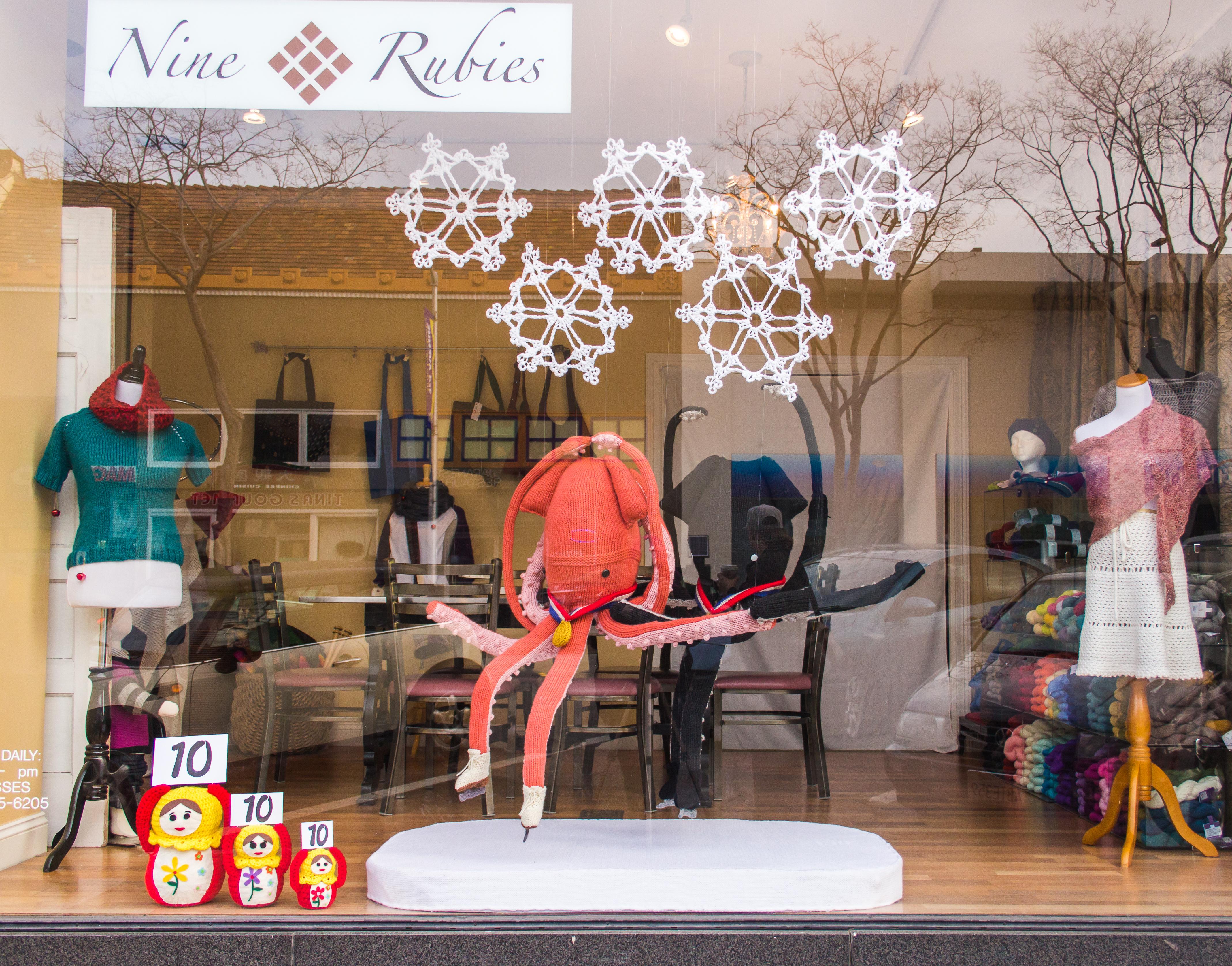 Sochi Winter Games-themed Window by Jill & Lorna Watt
