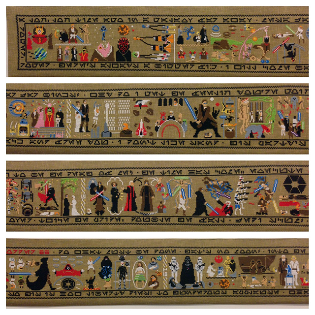 Star Wars Saga Cross-Stitched Over EPIC 30-Foot Canvas