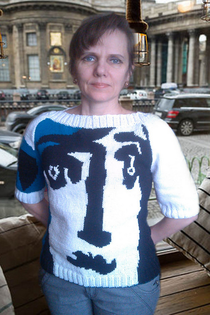 Picasso-Inspired Sweater, Knit By Elena - So Good!