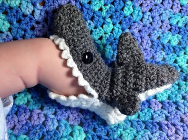 It's Shark Week Every Week With These Killer Bite Booties - Great Gift Idea!